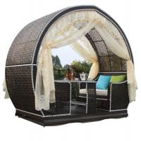 4 person patio garden swing chair with table canopy gazebo hammock with swings glider rattan furniture Manufactures