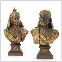 Customized Folk Art Antique Cast Iron Statues / Bronze Garden Statues Manufactures