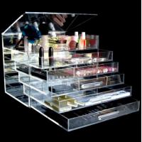China Cosmetic Organizer Clear Acrylic Makeup Drawers Holder Case Box on sale