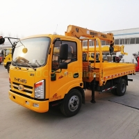 10t Standard Tonnage Straight Arm Small Lorry Mounted Crane Manufactures