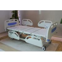 Five Functions Electric Hospital Bed with PP side rails , Home Care Beds With Individual Locking Casters Manufactures