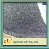 China Grey Flame Retardant Carpet Fabrics , Polyester Bonding Brushed Carpet For Indoor / Outdoor on sale