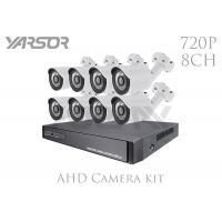 White AHD Camera Kit 8 Channel 1080N DVR Kit 4 X 720P For Indoor / Outdoor Manufactures