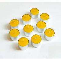 China Bulk Pure Beeswax Tea Lights Candle In Aluminum Cup on sale