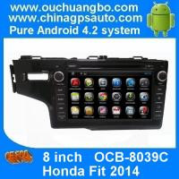 Ouchuangbo In Dash GPS Navi DVD Stereo Honda Fit 2014 Radio 3G Wifi Capacitive Android 4.4 Manufactures
