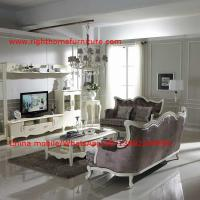 Quality Neoclassical Living Room Furniture by Pure white Wall Unit and Coffee table with Luxury Sofa set for sale