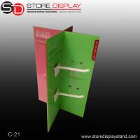 Acrylic counter top display with hooks for hanging on the table Manufactures