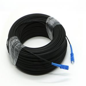 SC FTTH Fiber Optic Drop Cable Simplex Single Mode 200m 3 Steel Fiber Patch Cord Manufactures