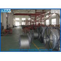 China Flexible Steel Wire Rope , Anti Twist Braid Steel Rope for Overhead Power Cables Stringing 28mm 580kN on sale