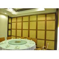 Quality Temporary wall partitions Hotel Aluminum Sliding Doors  For Room Dividers for sale