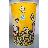 Yellow Paper Ice Cream Cups 100ml  , 170ml  , 200ml Takeaway Coffeae Cups Manufactures
