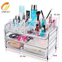 China Acrylic organizers for makeup Acrylic organizer makeup With 2 drawers on sale