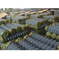 Hot Dipped Galvanized Steel Chain Link Fence For Railway Woven Diamond Pattern Manufactures