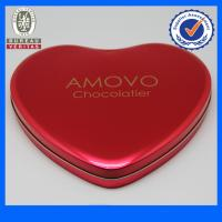 Fancy Pantone Heart Shaped Tin Gift  Boxes , Chocolate Tin Cans Manufactures