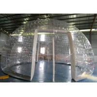 China Popular Transparent PVC Inflatable Bubble Tent  With Two Doors And Vents on sale