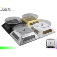 Roundness Led Light Turntable , Solar Rotating Stand For Jewelry / Watch Show Manufactures
