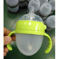China manufacturer selling custom logo free hand silicone baby milk bottle for sale