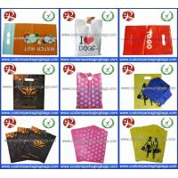 Glossy LDPE Die Cut Handle Shopping Bags Retail Merchandise Type Biodegradable Manufactures