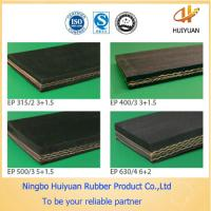Chemical Resistant Conveyor Rubber Belt for Salt (EP100-EP500) Manufactures