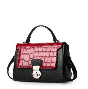 China Fashion Handbags Cowhide Women's Bag Crocodile pattern Cow Leather Tote Bag on sale
