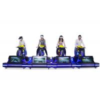 China Multiple Players Motion Simulator Ride , Black 1500w Electric Racing VR Motion Ride on sale