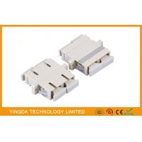 PBT White Plastic MM DX Fiber Optic Adapter / Coupler , SC Duplex Adapter Manufactures