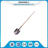 Farming Flat Spade Shovel / Head Shovel Hardwood Handle Railway Steel Material Manufactures
