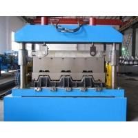Metal Floor Deck Roll Forming Machine , Skyscrapers Field Sheet Metal Roll Former Manufactures