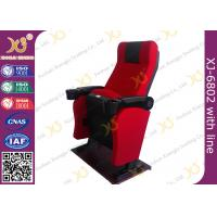 Iron Material Lounger Movie Theater Chairs PP Armrest With Cup Holder 2.3mm Thickness Manufactures