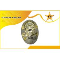 Hard Enamel Military Police Metal Badge / custom embroidered patches Manufactures