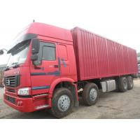 Closed Box Heavy Commercial Trucks 8x4 Driving Type 45 Cubic Meter Volume Manufactures