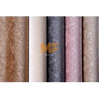 Shiny Red / Pink / Grey Velvet Upholstery Fabric With Okeo Tex 100 Easy Clean Manufactures