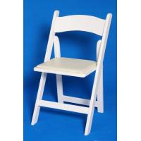 Solid Wood Padded Folding Chair , Ceremony Durable Outdoor Mahogany Folding Chair Manufactures