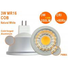 Buy cheap 25W Halogen Replacment Epistar COB CE RoHS MR16 GU10 3W 4500K Dimmable Spot Light from wholesalers