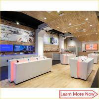 Retail modern display custom interior design mobile phone shop dispaly decoration design Manufactures