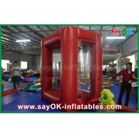 China 2x2 m Cash Grab Machine Inflatable Money Booth With PVC Material on sale