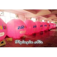 China 3m Height Pink Inflatable Helium Balloon with Logo for Business Show on sale