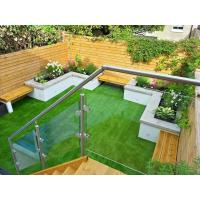 Balcony Design Glass Railing/ Glass Balustrade with Stainless Steel Post Manufactures