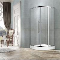 China With Frame Stainless Steel Curve Shower Doors 8mm Clear Glass Two Middle Profiles on sale