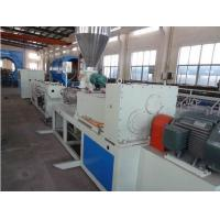 Hydraulic Protective Sleeve Plastic Extrusion Line , Sprial Hose Warp Pe Pipe Extrusion Machine Manufactures
