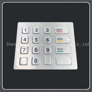 Dust Resistant 16 Key Keypad , Stainless Steel Vending Machine Keypad Manufactures