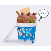 1L Custom Plastic Disposable Ice Cream Cups With Lid , Throw Away Food Storage Containers Manufactures