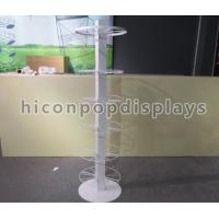 China Steel 6 Tiers Revolving Mobile Phone Accessories Display Stand White on sale