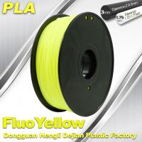 Desktop 3D Printing Material Fluorescence Yellow Colour PLA Filament Manufactures