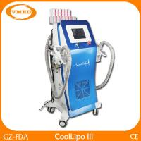 China Non Invasive Double Cryolipolysis RF Vacuum Slimming Machine Low Level Laser Therapy Cavitation on sale