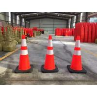"Standard 28"" High Solid Orange BLACK BASE Flexible Road cone Safe cone manufacture offer Manufactures"