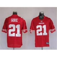 San Francisco 49ers #21 Frank Gore Red NFL jerseys Manufactures
