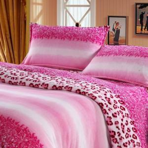 printed flannel bedding set