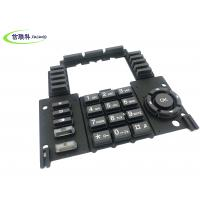 Overmolding Dual Hardness Custom Rubber Keypad , Multi Color Push Button Pad Manufactures