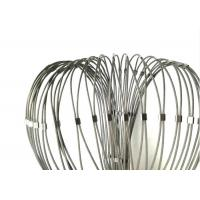 Ferrule Flexible Stainless Steel cable Mesh With Frame Used For Stair Balustrade for sale